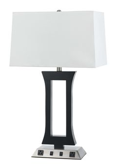 Abner Convenient Outlet 26 Table Lamp Bedroomlamps Led Lamps In
