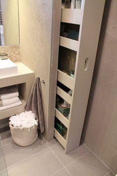 Bathroom – Small Badezimmer – Klein – bad – Home Epoxy Small Bathroom Storage, Bathroom Shelves, Bathroom Flooring, Bathroom Furniture, Modern Bathroom, Master Bathroom, Hall Bathroom, Bathroom Ideas, Bathroom Hacks