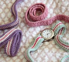 Ravelry: Watchstraps pattern by Debbie Bliss
