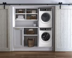laundry ideas Electrolux Stacked Washer & Dryer Set with Front Load Washer and Gas Drye Laundry Dryer, Laundry Closet, Laundry Room Organization, Laundry Room Storage, Laundry Room Design, Closet Storage, Storage Shelves, Storage Room, Laundry Room Remodel