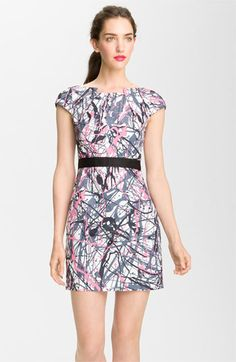 Love this 80's Inspired dress! (Milly 'Splatter Print' Sheath Dress available at #Nordstrom)