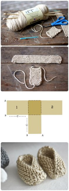 40 + Knit Baby Booties with Pattern--> http://coolcreativity.com/knit-2/knit-baby-booties-with-pattern/ #Knitting #Booties # Baby #Pattern