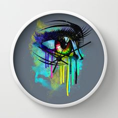 Tears of Colors Wall Clock by moncheng - $30.00
