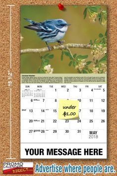2021 Garden Song Birds Wall Calendars low as Advertise your business, organization or event logo and ad message the entire year! Promotional Calendars, Out Of Office Message, Wall Calendars, Garden Birds, Phone Messages, Business Organization, Holiday Cards, Logo, Christian Christmas Cards