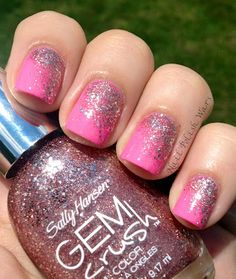 Pink-plosion nail art. #nailpolishwars
