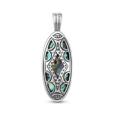 Southwest Spirit Sterling Silver Abalone Pendant Enhancer by Southwest SpiritTake for me to see Southwest Spirit Sterling