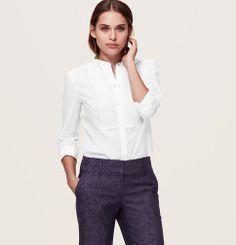 Petite Bib Textured Softened Shirt   Loft MAYBE