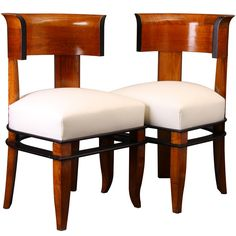 A Pair Of Piacentini Side Chairs  Italy  1928  a pair of side chairs by Piacentini  provenance: Casa dei Mutilati, Rome