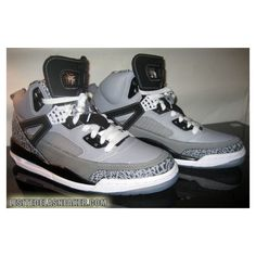 Air Jordan Spizike Cool Grey Detail photos ❤ liked on Polyvore