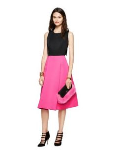 This color block pink and black dress from Kate Spade New York would be perfect for our Pink Friday Gala. #susangkomenutah