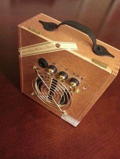 Cigar Box Guitar Amplifier - Mini Cigar Box Guitar Amplifier by FunEclecticHF on Etsy