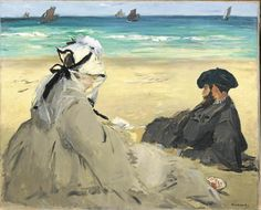 My favorite summer postcard of EdouardManet sent from Judith Benhamou.  The painting is at Musee d' Orsay in Paris