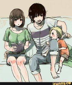 Ayato, Hinami and. . . is that a baby Naki?!?