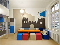 Colorful Boys Sitting Room Design Id915 - Beautiful Boys Room Designs - Kids Room Designs - Interior Design