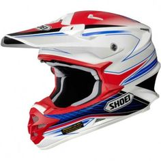 The Amazing Looking Red White and Blue Graphic in the new Shoei VFX W Sear TC10 Helmet is a real great option for any Motocross Rider in the new year. If you are looking for an Off Road lid in these lovely colours, then what better option than the extremely comfortable and protective VFX W Lid.