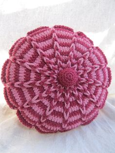 Vintage Reversible Crocheted Pillow from Tessiemay by tessiemay, $18.00