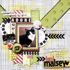 PetLove: Missy {miss Inka} Dog Scrapbook, Wedding Scrapbook, Scrapbook Sketches, Scrapbook Page Layouts, Scrapbook Paper Crafts, Scrapbook Cards, Scrapbooking Ideas, Picture Layouts, Candy Cards