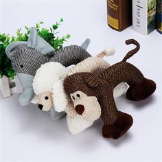 Material : cottonToys Type : Chew ToysMaterial : CottonColor : Coffee, grey, beigeDimensions : 25cmPattern : Monkey, elephant, poodlePackage : 1pcFeature 1 : Dog Chew ToysFeature 2 : Interactive Squeak Puppy Dog ToyFeature 3 : Pets SuppliesFeature 4 : for Small Large DogsFeature 5 : Bite ResistantMaterial: CottonDimensions: L*H: 25*19cm(9.84*7.48in)Pattern: Monkey, elephant, poodlePackage Includes: 1 x Pet toyPlease Note:1. Please allow 1-3cm error due to manual measurement.2. Please understand Cute Dog Toys, Dog Chew Toys, Pet Dogs, Dogs And Puppies, Dog Cat, Duck Toy, Interactive Dog Toys, Dog Chews, Big Dogs