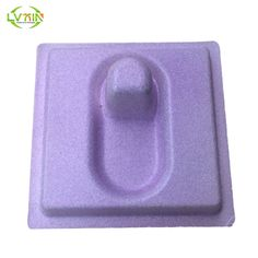 Hot sale sandblasting bagasse pulp molded colorful packaging packing tray