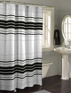 Found It At Wayfair   Racer Stripe Polyester Fabric Shower Curtain