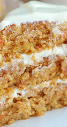 Pumpkin Carrot Cake with Cream Cheese Frosting ~ A moist layer cake filled with pumpkin, carrots, and spices.