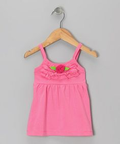 Take a look at this Pink Rosette Swing Top - Toddler & Girls by Cheeky Smyle on #zulily today!