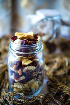 Recipe for Festive Trail Mix - A gorgeous, simple, and healthy snack – perfect for a home-made gift!