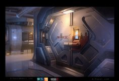 ArtStation - Sci-fi Door, Anthony Trujillo