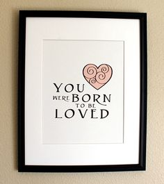 Wonderful baby gift, yet...I think a great reminder for me whenever life feels a bit heavy.