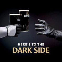 Bud Light and Guinness didn't miss the Star Wars day an… Malta, Guinness Advert, Dark Beer, Star Wars, Bud Light, Best Beer, Beer Lovers, Fun Drinks, Creative Advertising