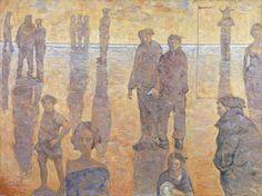 """Giampaolo Talani, """"Animali di battigia"""", olio su tela, 2003, cm. 150x200"""