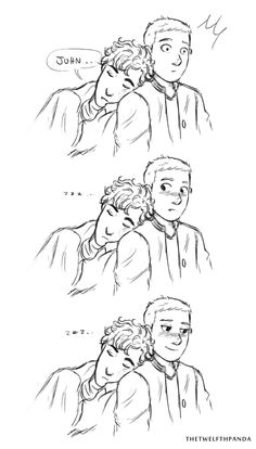 "thetwelfthpanda: "" johnlockandwifi I drew you something smoll and gay to make you feel better """