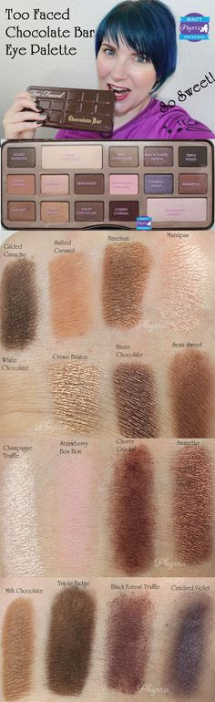 Too Faced the Chocolate Bar Palette. IS THIS REAL?!? Yes it is. And it awesome!!!! Both the colors and the chocolate smell of the eye shadows