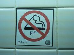 no smoking.... pie?