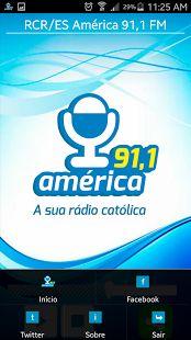 América FM - RCR/ES: miniatura da captura de tela