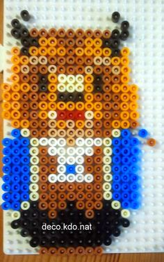 Beast - Beauty and the Beast hama perler beads by deco.kdo.nat