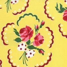 Michael Miller House Designer - Retro Florals - Francie in Sunny #fabric
