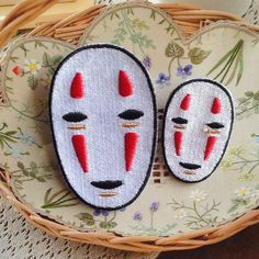 NO FACE Spirited Away Patch Embroidered Animation Sew on Iron on Patches