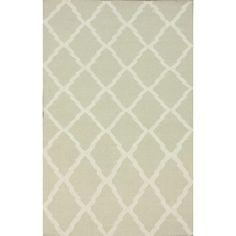 Hand-Hooked Alexa Moroccan Trellis Flatweave Natural Wool Rug (7'6 x 9'6) | Overstock.com
