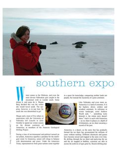 Work from the Antarctic Geologic Drilling Project (ANDRILL) was featured in the Winter 2007 edition of L Magazine. Continents, Lincoln, Mystery, Journal, Pure Products, Magazine, Stars, Design