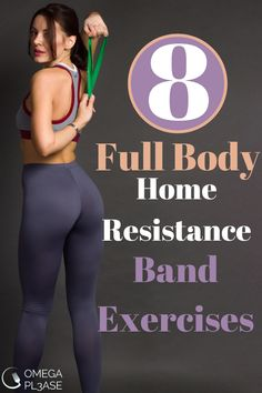 The following 8 resistance band exercises for beginners are great home workout options. They are great resistance band exercises for weight loss because they are full body resistance band exercises. This means we include upper body resistance band exercises as well as lower body resistance band exercises. Try our resistance band workouts now! #resistancebandexercises #fullbodyresistancebandexercises #resistancebandexercisesforweightloss #resistancebandworkouts #homeresistancebandworkout Pilates Video, Beginner Pilates, Pop Pilates, Pilates Yoga, Pilates Workout, Workout Videos, Yoga Videos, Workout Tips, Workout Routines