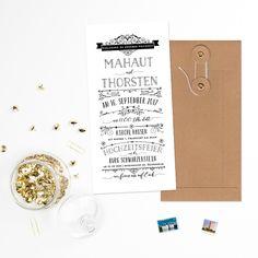 Einladungskarten - Hochzeitseinladung - Vintage Hochzeit - ein Designerstück von bonjourpaper bei DaWanda