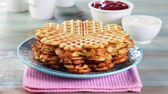 The Great Norwegian Adventure Norwegian Waffles, Norwegian Food, Healthy Waffles, Waffle Recipes, What You Eat, Some Recipe, Cottage Cheese, Stevia, Food Inspiration