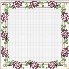 Cross Stitch Heart, Cross Stitch Borders, Cross Stitch Flowers, Cross Stitch Patterns, Filet Crochet, Broderie Bargello, Rico Design, Borders And Frames, Crochet Tablecloth