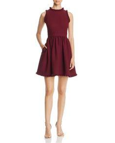 kate spade new york Ruffle Fit-and-Flare Dress | bloomingdales.com