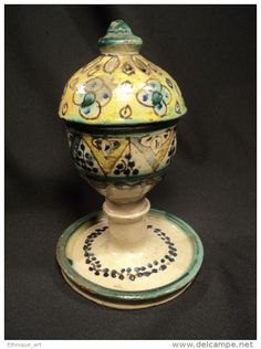 Brûle Encens Marocain Faïence Maroc 19ème Morocco Ceramic Orientalist Pottery