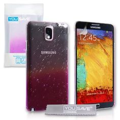 Yousave Accessories Raindrop Hard Cover for Samsung Galaxy Note 3 - Purple/Clear - http://www.css-tips.com/product/yousave-accessories-raindrop-hard-cover-for-samsung-galaxy-note-3-purpleclear/
