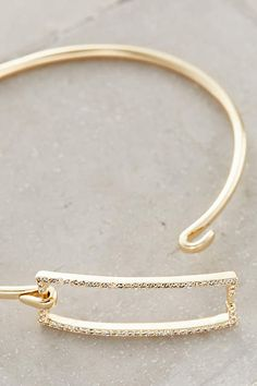 Pave Rectangle Bangle - anthropologie.com #anthrofave #anthropologie