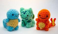 Pokemon crochet starter set by GeekyCuteCrochet!