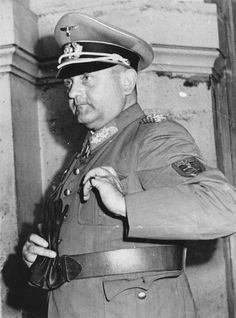 General Dietrich von Choltitz, commander of German forces in Paris, seen shortly after he formally surrendered the city late on the afternoo...